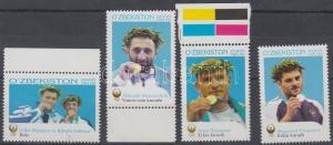 Uzbekistan stamp Medalists of Athen Olympics set 2006 MNH WS113057