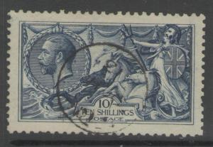 GB SG402 1913 10/= INDIGO-BLUE FINE USED