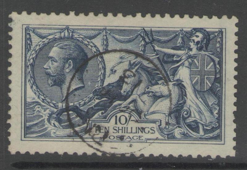 GB SG402 1913 10/= INDIGO-BLUE FINE USED