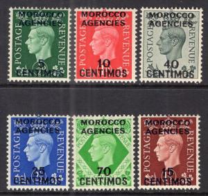 Great Britain Offices in Morocco 83-88 MNH VF