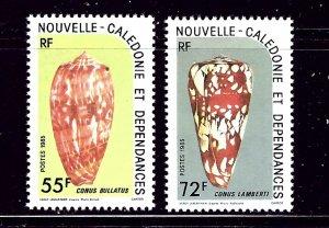 New Caledonia 521-22 MNH 1985 Sea Shells