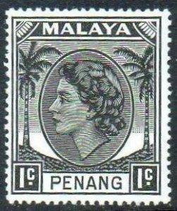 Penang 1955 1c black MH