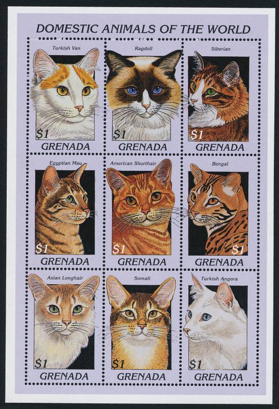 Grenada 2628 MNH Domestic Cats