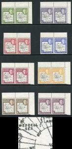 Falkland Deps SGG1a/8a Thick Map Set Variety Gap in 80th Parallel in U/M Pairs