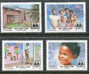 NAMIBIA 1993 CHILD CARE - CHILDREN MINT SET OF FOUR!