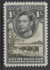 BECHUANALAND SG125 1938 1/= BLACK & BROWN-OLIVE MTD MINT