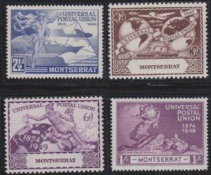 Montserrat 108-111 MNH (1949)