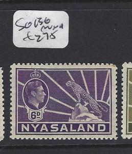NYASALAND  (P0701BB)  KGVI   LEOPARD  6D  SG 136    MNH