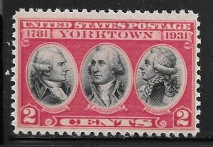 USA 703: 2c Battle of Yorktown, F-VF, NH, Mint