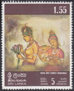 Sri Lanka # 481 used ~ 1.55r Women Holding Lotus