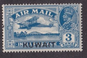 Kuwait # C2, India Stamp Overprinted for Kuwait, LH, 1/3 Cat.