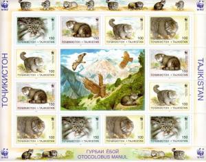 Tajikistan 1996 WWF PALLAS CATS Mini Sheets (2) Perforated Mint (NH)
