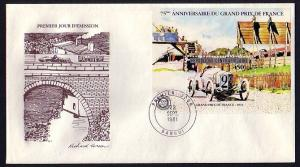 Central Africa, Scott cat. 475. Grand Prix s/sheet. First Day Cover. ^