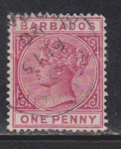 BARBADOS Scott # 61a Used - Queen Victoria