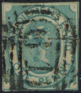 TASMANIA 1853 QV COURIER 1D USED