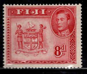 FIJI Scott 126 MH* perf 14 1948 coat of arms stamp
