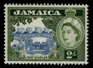 JAMAICA QEII SG170a, 2s grey-blue & bronze-green, LH MINT. Cat £35.