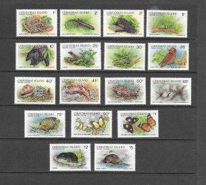FISH - CHRISTMAS ISLAND #196-211  MARINE LIFE   MNH