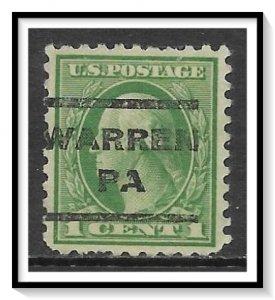 US Precancel #462 Warren PA Used