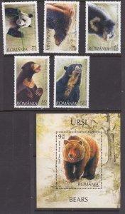 Romania #5034-39 bears MH