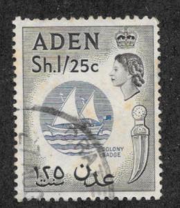 Aden, Scott 56, QE II Coronation, used, 1953-1959