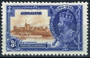 Gibraltar 1935 3d Brown & Dp Blue SG115b Short Extra Flagstaff Fine MNH