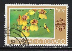 TRINIDAD & TOBAGO 287 VFU FLOWERS K652-3