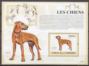 Comoro Islands MNH S/S Rhodesian Ridgeback Dog 2009