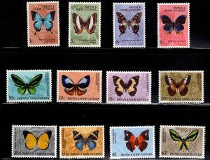 Papua New Guinea Scott 209-220 MNH** butterfly set