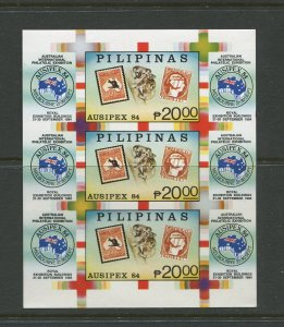 STAMP STATION PERTH Philippines #1710 Ausipex '84 Souvenir Sheet MNH CV$30.00.