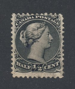 Canada Large Queen Stamps #21-1/2c Used F/VF.  Guide Value = $70.00