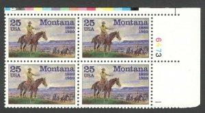 2401 Montana Statehood Plate Block Mint/nh FREE SHIPPING