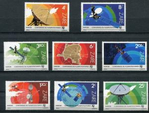 ZAIRE 1983 SPACE SATELLITES - MAPS MINT SET OF 8 STAMPS - $7.05 VALUE!