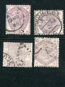 Great Britain  Lilac set  used F-VF   Cat $250  -  Lakeshore Philatelics