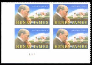US Scott #5105 - 3oz Rate Henry James Plate Block Lower Left MINT 2016