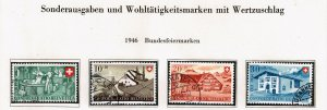 Switzerland Stamp 1946 Pro Patria USED STAMPS SET $23