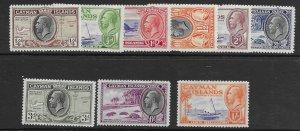 Cayman Islands 85-93  1935 set Unused  VF