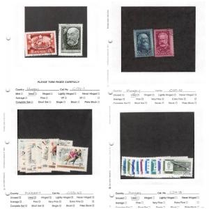 Lot of 68 Hungary Mixed Condition Stamps Range B225 - 282, C81 - 417 #137895 X R