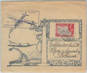 74613 - POSTAL HISTORY - First Flight COVER: Curacao - Amsterdam KLM 1946 - NICE