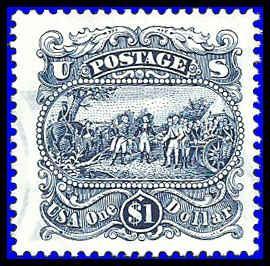 PCBstamps  US #2590 $1.00 Surrender of Burgoyne, 1994, Used, (1)