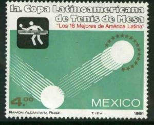 MEXICO 1226, Latin-American Table Tennis Cup. MINT, NH. VF.