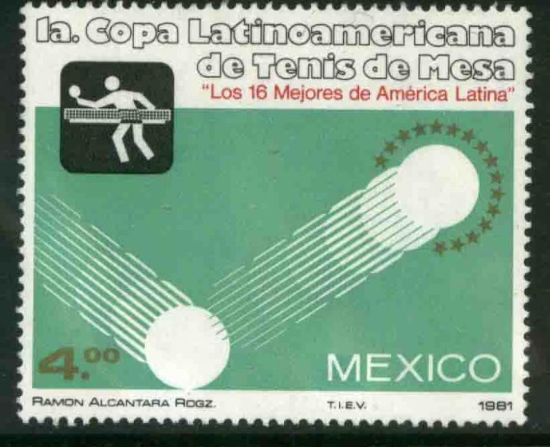 MEXICO 1226, Latin-American Table Tennis Cup MNH