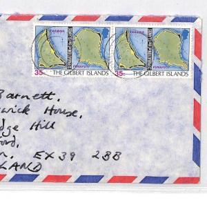 BQ189 1978 THE GILBERT ISLANDS Commercial Airmail Cover {samwells}PTS