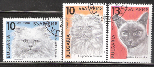 Bulgaria  Used stamps  # 3513 3514 3515 Cats