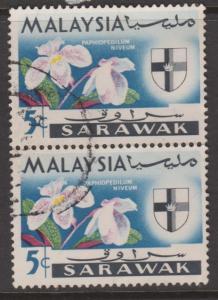 Sarawak Sc#230 Used Pair