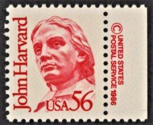 US 2190 MNH VF 56 Cent John Harvard Philanthropist Copyright Single