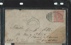 JAMAICA (P2906B) 1880  QV 4D CANCEO A56 TO LONDON