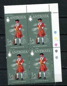 Antigua 1970 Military Uniform MNH Block of 4 8815