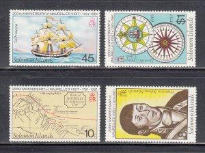 Solomon Islands Scott #439-442 MNH