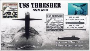 18-134, 2018, USS Thresher, SSN-593, Pictorial, Event Cover,